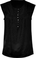 Marc by Marc Jacobs Black silk jacquard top