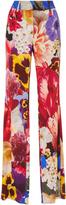Roberto Cavalli Floral-Print Crepe Straight-Leg Pants