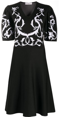 Givenchy floral-print V-neck dress
