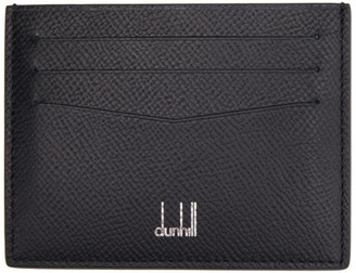 Dunhill Black Leather Cadogan Card Holder