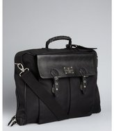 Ossington black nylon and leather 'Suitor' large travel messenger bag