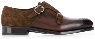 Salvatore Ferragamo 713110 MARRON Leather/Suede/Leather/Leather