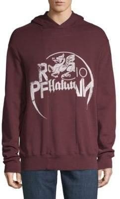 Maison Margiela Graphic Cotton Hooded Sweatshirt