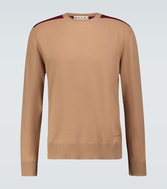Marni Wool crewneck sweater with check