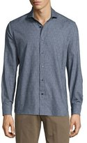 Robert Graham Kashmir Long-Sleeve Printed Woven Shirt, Blue