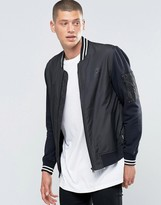 Converse Mix Fabric Bomber In Black 10001108-A01