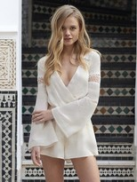 The Jetset Diaries Dokuma Romper in Pearl
