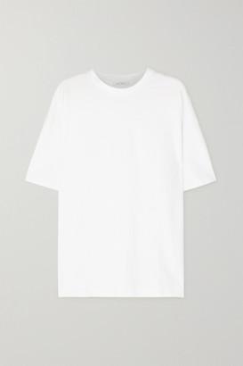 Ninety Percent + Net Sustain Faye Oversized Organic Cotton-jersey T-shirt - White