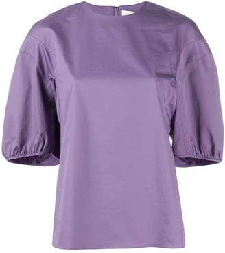 Tibi Puff Sleeve Top