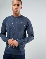 Esprit Sweat with Raglan Sleeve and All Over Print Detail