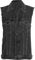 Alexander Wang Daze Distressed Denim Vest - Gray