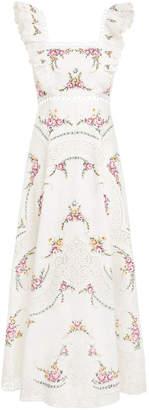 Zimmermann Allia Cross Stitch Long Dress