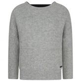 DKNY DKNYGirls Grey Knitted Loose Fit Sweater