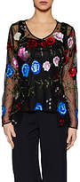 Gina Bacconi Fleur Beaded Jacket, Black