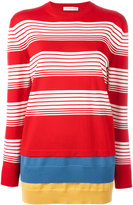 J.W.Anderson layered striped jumper - women - Merino - XS