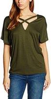 New Look Women's X Front Tee T - Shirt, Green