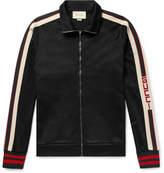 Gucci Webbing-Trimmed Tech-Jersey Track Jacket