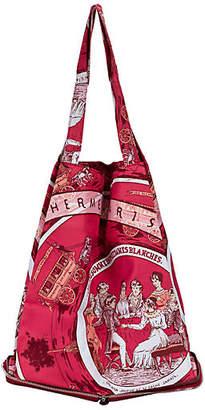 One Kings Lane Vintage Hermes Burgundy Silky Pop Bag - Vintage Lux - burgundy/palladium