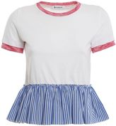Dondup Moon Striped Flounce T-shirt