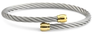 Charriol Two-Tone Cable Bypass Bangle Bracelet in Pvd Stainless Steel & Gold-Tone
