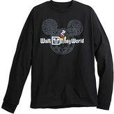 Disney Mickey Mouse with Walt World Logo Long Sleeve Tee for Adults - Black