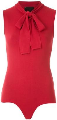 Andrea Bogosian Knitted Tie Neck Bodysuit
