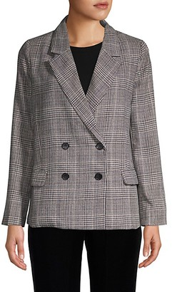Lucca Plaid Double-Breasted Blazer