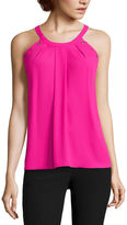 WORTHINGTON Worthington Sleeveless Grommet Trapeze Top - Tall