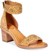Frye Women's Brielle Deco Back-Zip Block-Heel Sandals