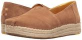 Toms Platform Alpargata Women's Slip on Shoes
