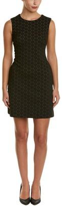Taylor Dresses Women's Novelty Circle Embroidery Shift Dress Black/Ivory 2