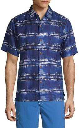 Tommy Bahama Abstract Silk Short-Sleeve Shirt