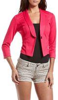 Charlotte Russe Hot Pink Ponte Knit Blazer
