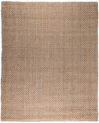 Kosas Home Home Colette Basket Woven Jute Area Rug, Natural/Bleach, Natural/Gray