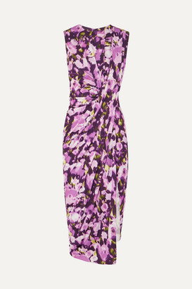 Jason Wu Collection Asymmetric Floral-print Stretch-jersey Dress - Purple