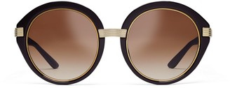 Tory Burch Kira Striped Round Sunglasses