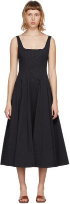 STAUD Black Wells Dress