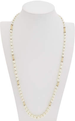 Carolee Pearl Premier Cz Endless Strand Necklace