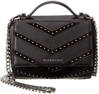 Givenchy Pandora Box Leather & Suede Shoulder Bag