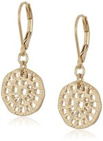"lonna & lilly Classics"" Gold-Tone Disc Drop Earrings"