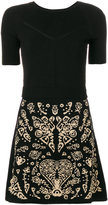 RED Valentino embroidered fitted dress