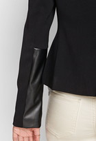 Forever 21 Contemporary Faux Leather Paneled Blazer
