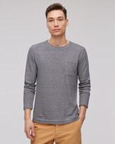 Cotton Linen Fine Stripe Long Sleeve T-shirt