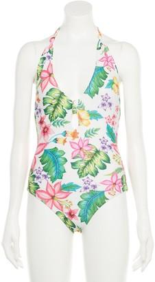 Indigo Rein Juniors' Floral Halter One-Piece Swimsuit