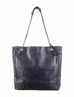 Chanel Vintage Quilted Shoulder Bag Navy