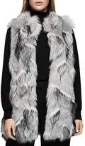 Reiss Krista Long-Line Faux-Fur Gilet