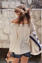 aerie K Ti Per Te Crochet Peasant Top