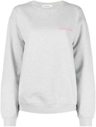 Helmut Lang Embroidered Logo Sweatshirt