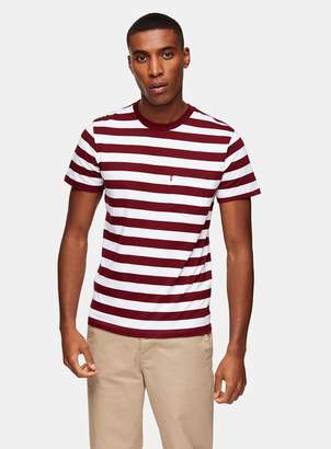 Levi's TopmanTopman Red and White Stripe Pocket T-Shirt