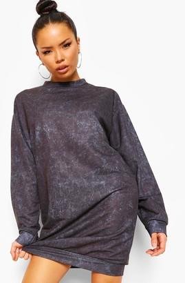 boohoo Acid Wash Oversized jumper Dress